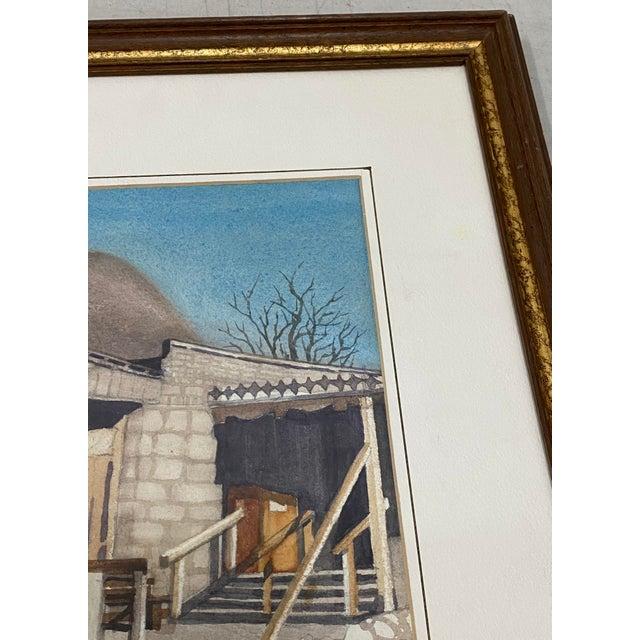 "Art Ellis ""Calico Mine, Joe's Saloon"" Original Watercolor C.1980 Original watercolor on paper Dimensions 14"" wide x 10""..."
