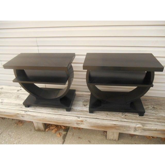 Vintage Brown Saltman Side Tables / End Tables - Set of 2 - Image 6 of 7
