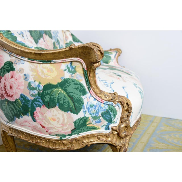 Gold French Settee For Sale - Image 8 of 11