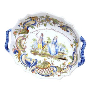 19th Century Hand Painted Oval Platter