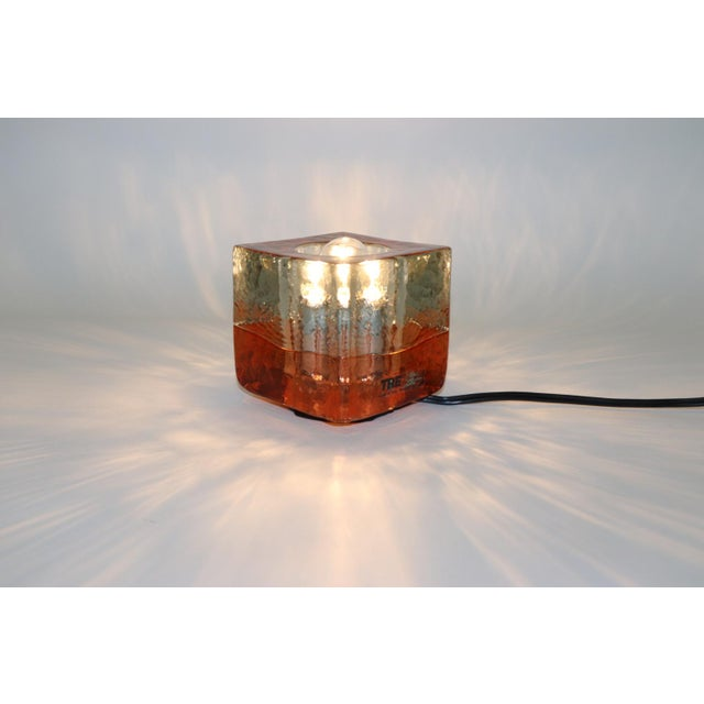 Orange Mid-Century Modern Murano Glass Table Lamp For Sale - Image 10 of 13