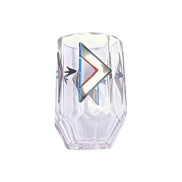 Art Deco Czech Crystal Liquor Set - Set of 6 For Sale - Image 4 of 6