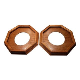 Octagon Collector Plate Frames - A Pair For Sale