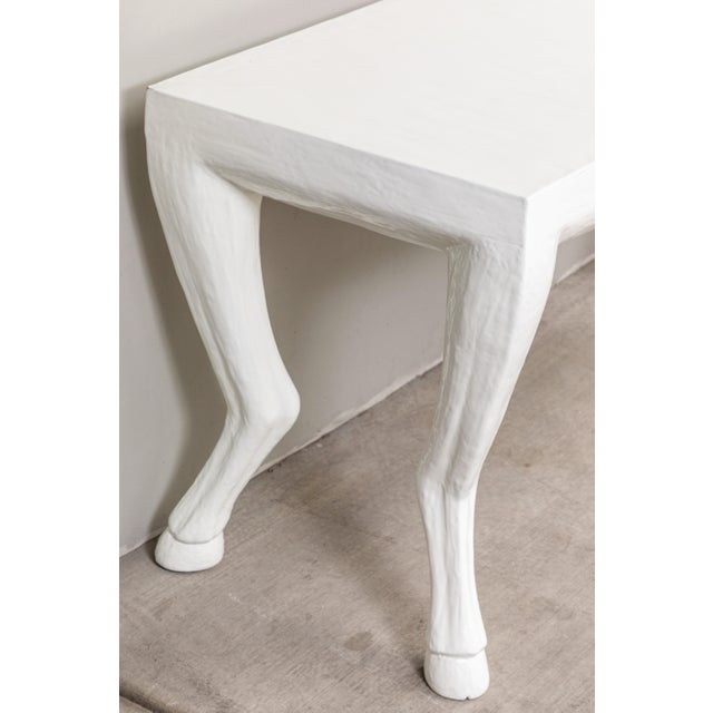 Lacquer Cast Resin Console Tables - a Pair For Sale - Image 7 of 9