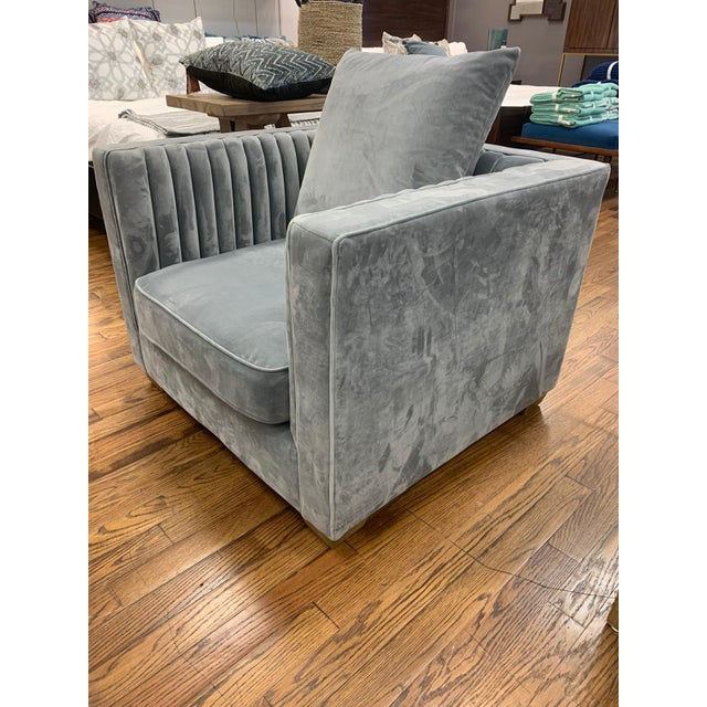 Contemporary Gray Blake Occasional Chair For Sale - Image 3 of 4