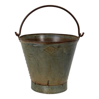 Antique French Riveted Bucket For Sale