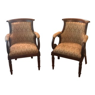 Hancock & Moore Jockey Club Chairs - a Pair For Sale