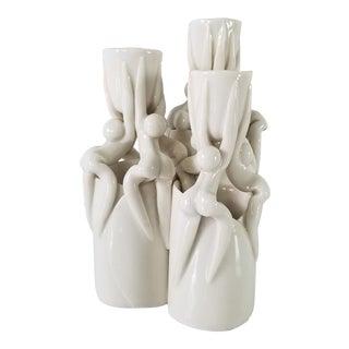 Vintage Sculptural Art Ceramic Candle Holder For Sale