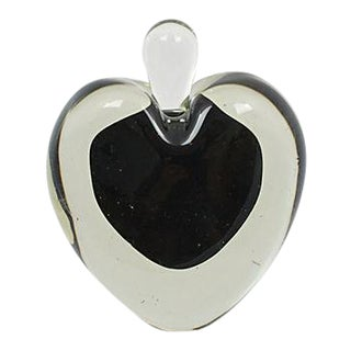 Murano Black Heart Perfume Bottle