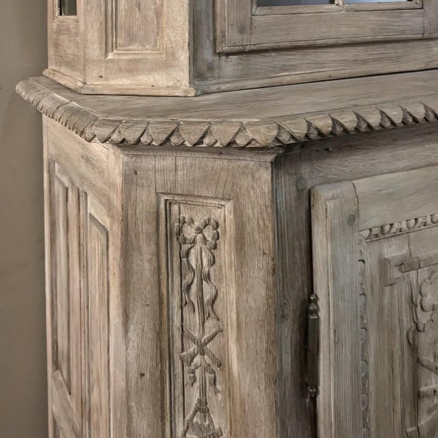 19th Century Country French Louis XVI Stripped Bookcase ~ Vitrine For Sale - Image 10 of 13