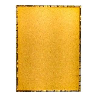 Custom Vintage Antique Gold Wood Framed Bulletin Corkboard For Sale