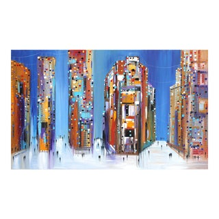 """""""The City at Night"""" Original Artwork by Ekaterina Ermilkina For Sale"""