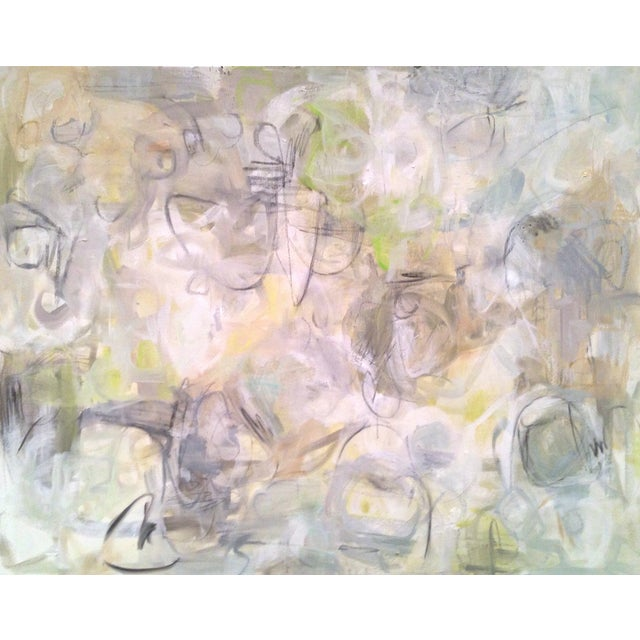 """Trixie Pitts """"Making Honey"""" Abstract Painting - Image 1 of 2"""