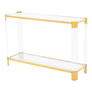 Blink Home Gold Console Table For Sale