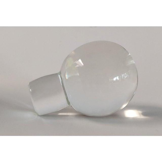 1980s Vintage Mario Pinzoni for Seguso Vetri d'Arte Glass Bottle For Sale - Image 9 of 13