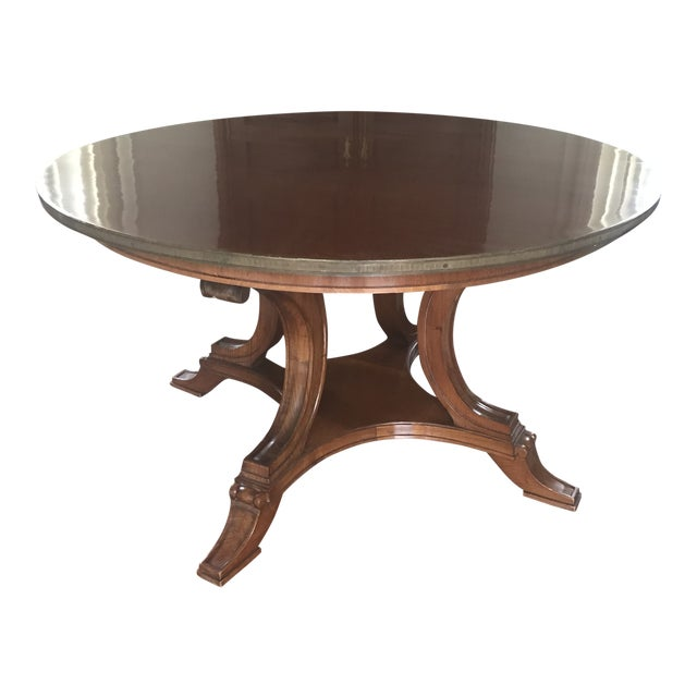 19th Century English Regency Mahogany Center Hall Table For Sale
