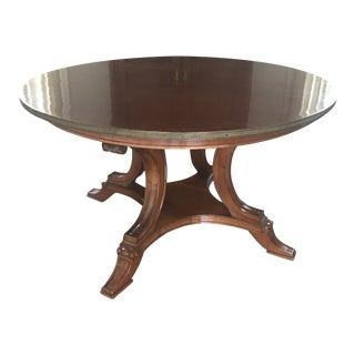 19th Century English Regency Mahogany Center Table For Sale