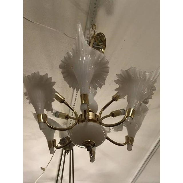 Mid-Century Italian Murano Chandelier For Sale - Image 9 of 9