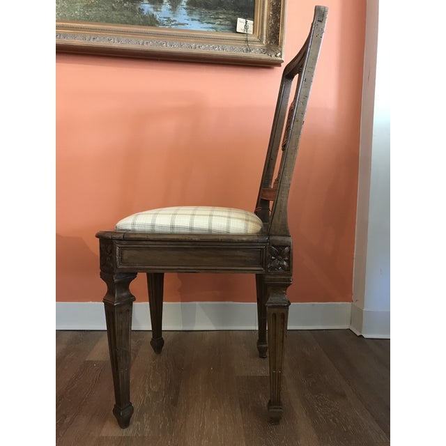 19th Century Walnut Side Chairs - a Pair For Sale In Kansas City - Image 6 of 12