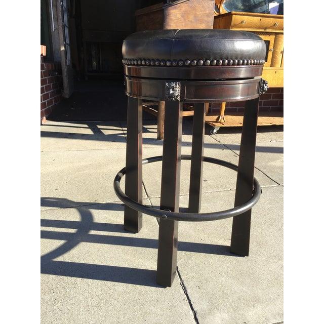 Peachy Theodore Alexander Leather Swivel Bar Stool Short Links Chair Design For Home Short Linksinfo