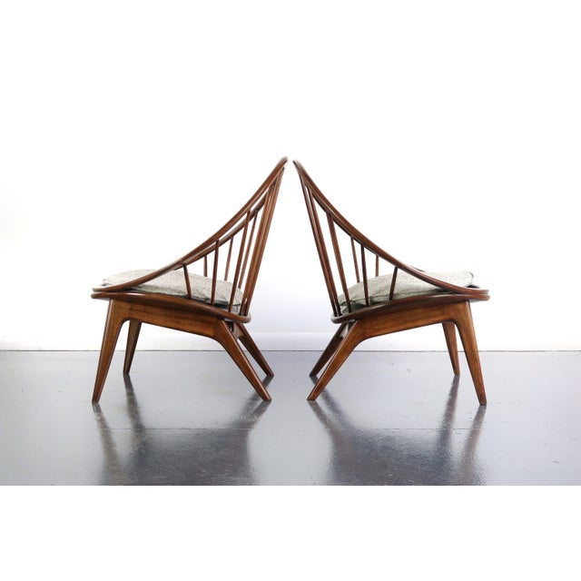 STUNNING Ib Kofod-Larsen for Selig Hoop Chairs - A Pair of Two (2) Highly collectable and exceptionally well designed is...