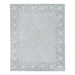 Exquisite Rugs Melbourne Handtufted Wool & Cotton Aqua - 10'x14' For Sale