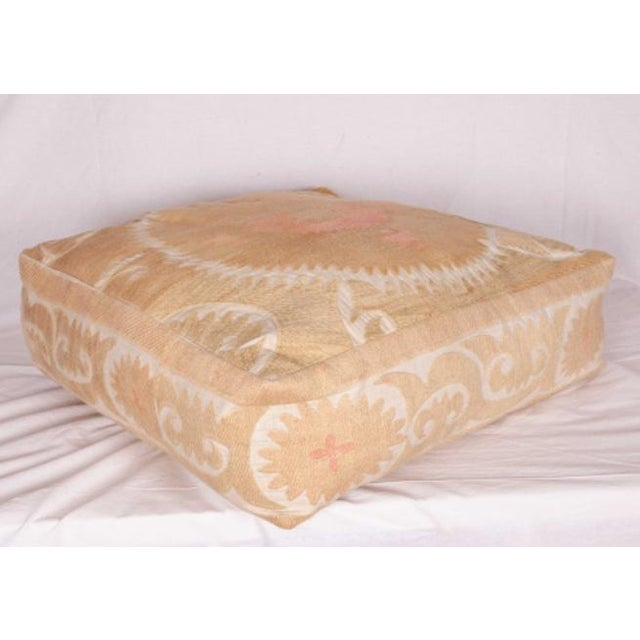 Mid Century Embroidered Suzani Floor Cushion For Sale In Los Angeles - Image 6 of 6