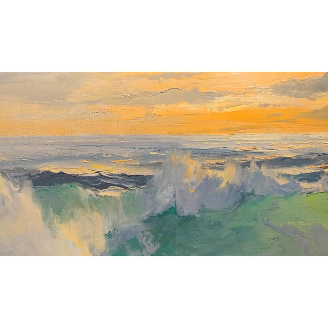 Bennett Bradbury California Seascape Oil Painting on Canvas For Sale In Los Angeles - Image 6 of 10