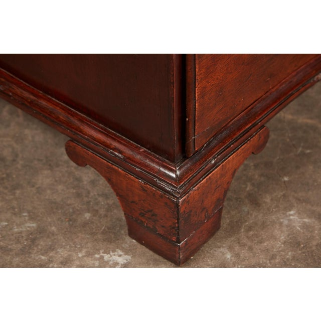 Brown Late 18th Century Danish Mahogany Bowfront Chest For Sale - Image 8 of 9