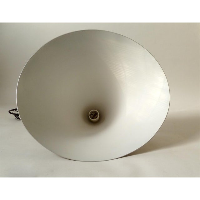 Vintage Brushed Gold Cone Hanging Light - Image 2 of 4