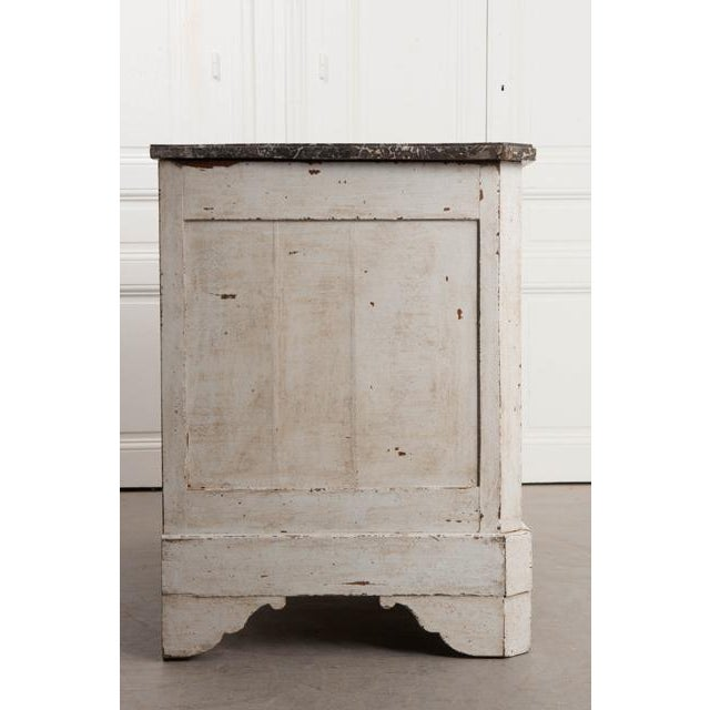 French 19th Century Painted Commode With Marble Top For Sale - Image 9 of 12