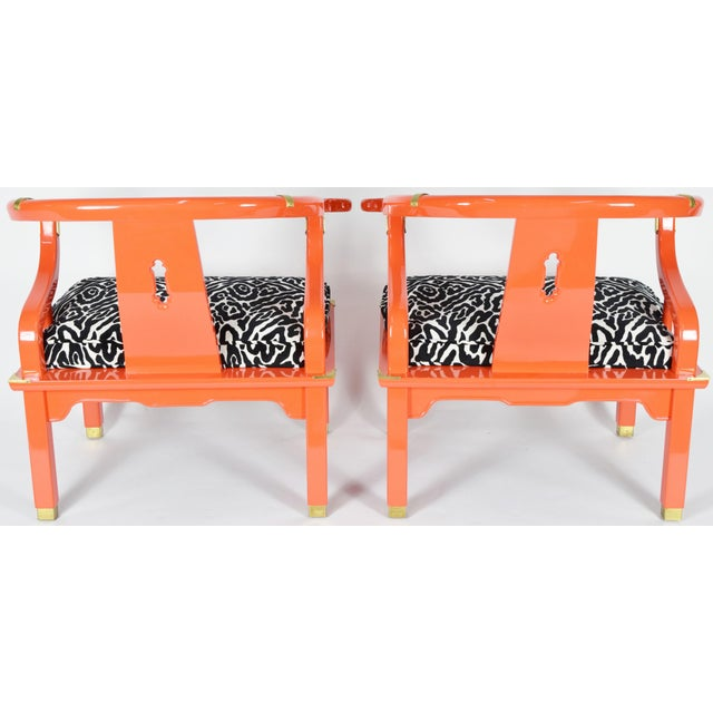 Century Furniture Pair of Asian Ming Chairs James Mont Style by Century Furniture For Sale - Image 4 of 7
