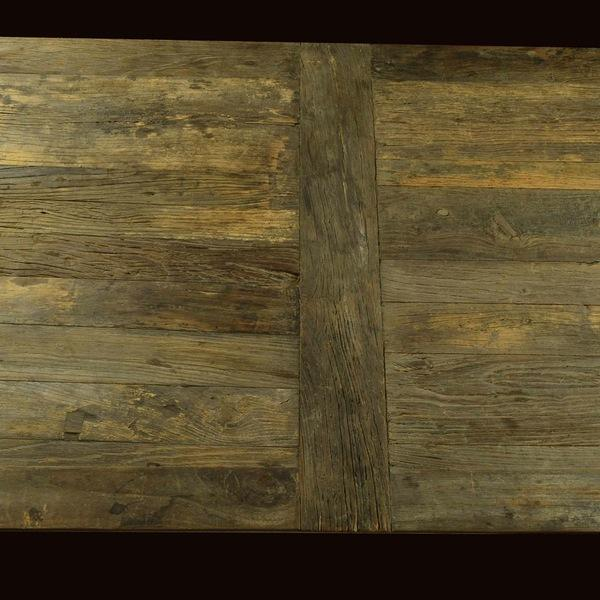 Modern Restoration Hardware Reclaimed Elm Dining Table For Sale - Image 3 of 5