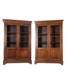 French 19th Century Louis Philippe Walnut Bibliotheques - a Pair For Sale