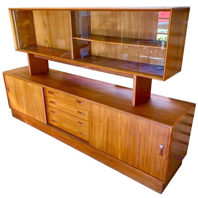 1960s Clausen & Søn Danish Modern Teak Hutch For Sale