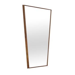 Trapezoid Walnut Mirror For Sale