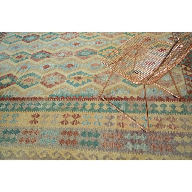 "Geometric Medallion Kilim Carpet - 8'2"" X 11'3"" For Sale In New York - Image 6 of 8"