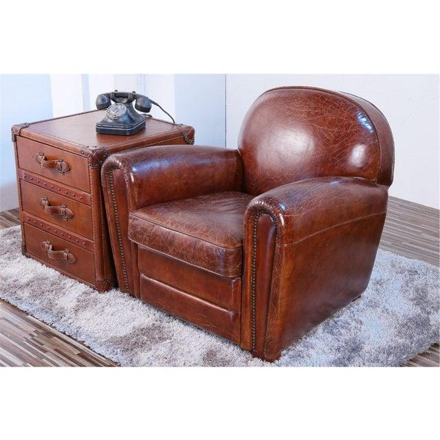 Pasargad Genuine Leather Paris Club Chair - Image 2 of 5