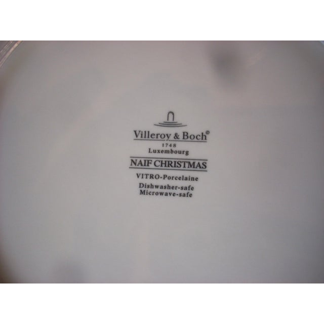 Traditional Villeroy & Boch Christmas Salad Plates - Set of 10 For Sale - Image 3 of 4