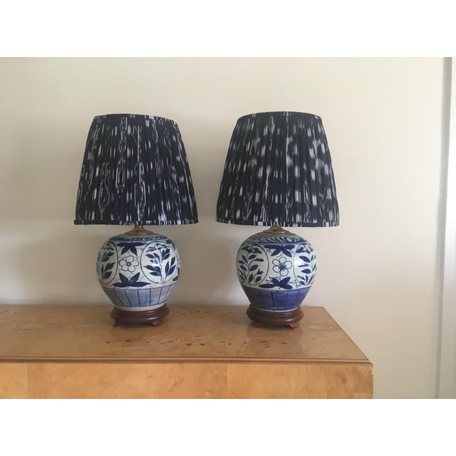 Chinoiserie Ginger Jar Lamps - A Pair - Image 7 of 8