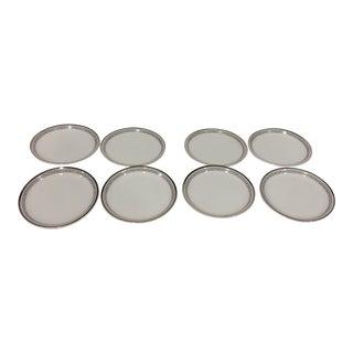 "Vintage ""Stonegate"" German Bavarian Countess Butter Pat Plates - Set of 8"