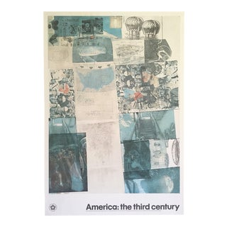 "Robert Rauschenberg Rare Vintage 1976 Lithograph Print "" Deposit "" America : The Third Century Poster For Sale"