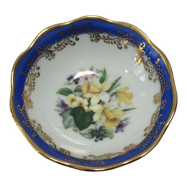 French Limoges Floral Dish - Image 1 of 6