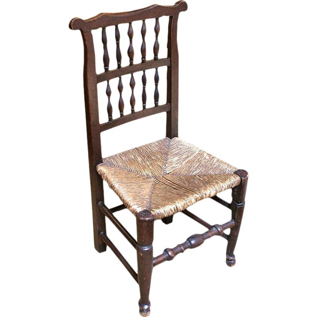 18th Century English Oak Chair For Sale