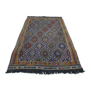 1970s Vintage Turkish Afion Handwoven Kilim Rug For Sale