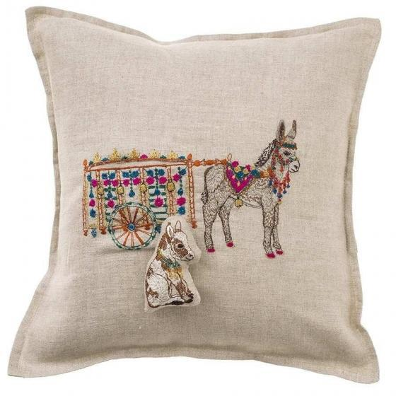 Covered in flowers and embellishment, Frances the donkey proudly pulls her ornate cart through town. She helps her fellow...