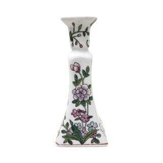 Vintage Chinese Porcelain Single Candlestick