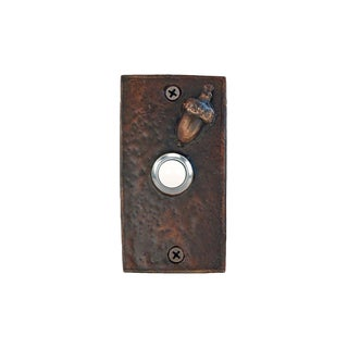 Rectangle Acorn Doorbell with Traditional Patina For Sale