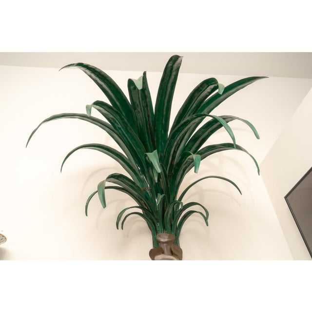Mid 20th Century 1970s Custom Palm Tree Form Wall Torcheres 9 Ft High - a Pair For Sale - Image 5 of 12