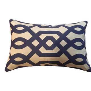 Moden Geometric Bolster Pillows - A Pair For Sale